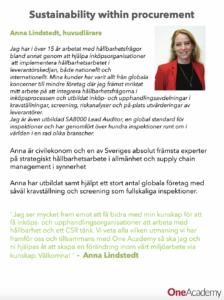 Ny huvudlärare i Sustainability, Anna Lindstedt